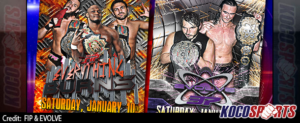"Video: EVOLVE 37 & FIP Everything Burns – ""iPPV Double Header"" – 01/10/15 – Live @ 6PM EST / 11PM GMT – (Full Show)"