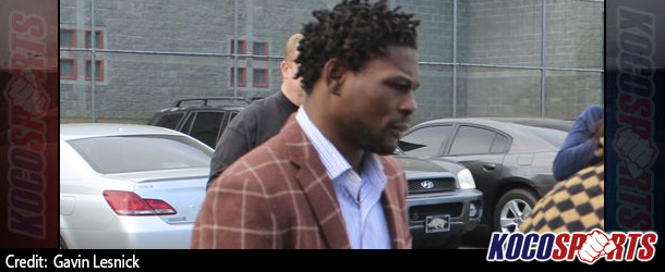 Jermain Taylor turns himself in to authorities at Little Rock Detention Facility on Wednesday after bond revoked