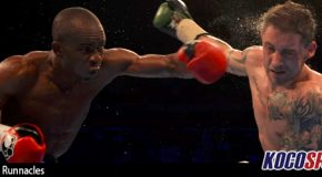 "Julius Indongo dominates Ricky Burns to unify the IBF and WBA ""world"" junior welterweight titles"