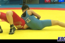 Video: Khadidja Kaddour pins her opponent after a hip throw in Final 5-6 in FW 46kg