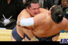 Kisenosato records second loss as sole leader; Kakuryu posts 10th win on Day 10 of the Kyushu Basho