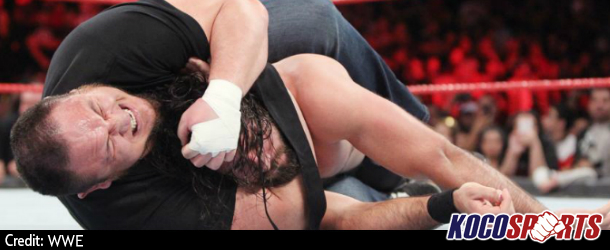 Seth Rollins injured during brawl with Samoa Joe on monday night Raw; Possibly miss Wrestlemania again this year