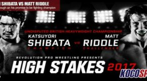 "Match card for Revolution Pro Wrestling's – ""High Stakes"" 2017 Show from the York Hall in London, England"