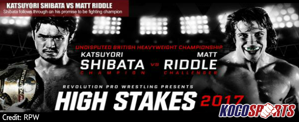"""Match card for Revolution Pro Wrestling's – """"High Stakes"""" 2017 Show from the York Hall in London, England"""
