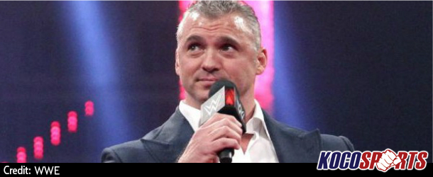Shane McMahon making a announcement to kick off tonight's episode of Smackdown LIVE
