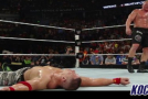 John Cena wins Night of Champions main event by disqualification; Brock Lesnar remains WWE champion