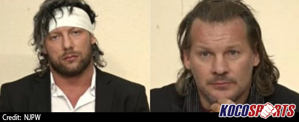 Video: Kenny Omega attacks Chris Jericho at NJPW Wrestle Kingdom 12 Press Conference