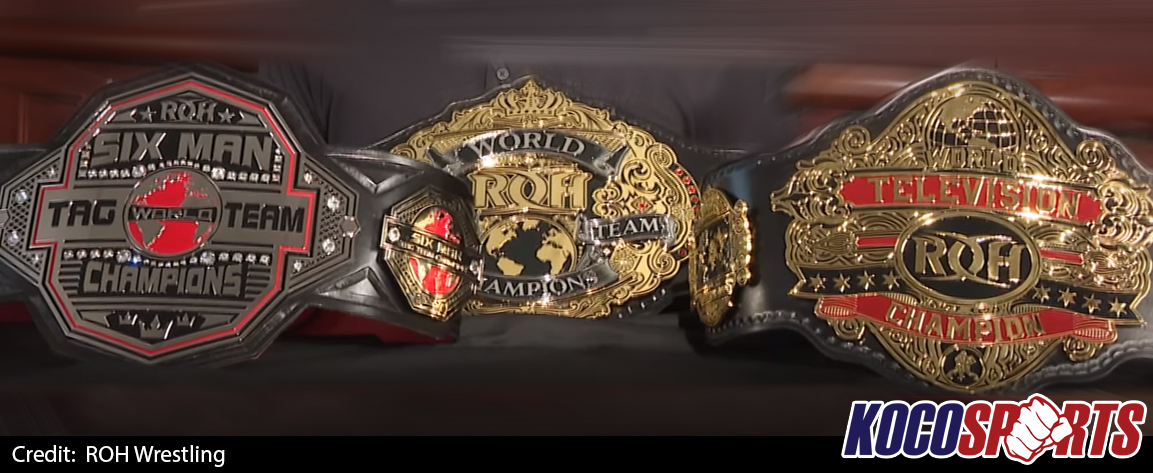 Video: Ring of Honor reveals three new championship title belt designs