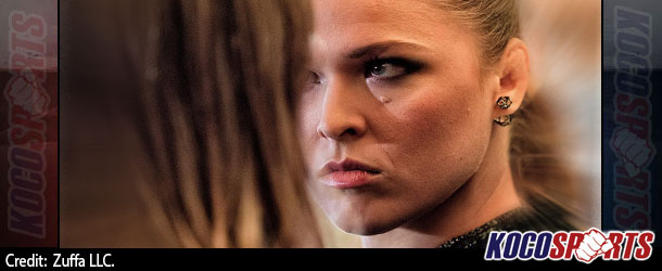 Video: Ronda Rousey and Bethe Correia engage in an intense staredown at UFC 190 media event