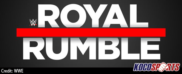 WWE Royal Rumble 2017 match card; The Undertaker, Brock Lesnar and Bill Goldberg all participating in the Rumble match