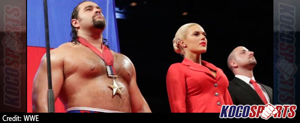 Video: WWE Monday Night Raw Coverage – 11/10/14 – (Alexander Rusev & Lana Perry celebrate United States win)