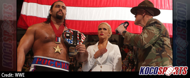 Video: WWE Monday Night Raw Coverage – 11/24/14 – (Jack Swagger saves Sgt. Slaughter from Alexander Rusev)