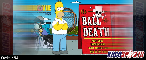 Max Arcade: Simpsons The Ball of Death – (Flash Game)