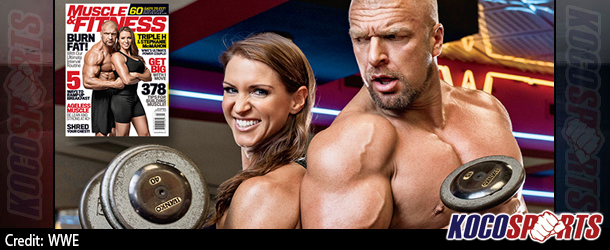 "WWE's Triple H and Stephanie McMahon featured on the cover of ""Muscle & Fitness"" magazine"