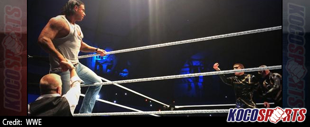 Images of German soccer player Tim Wiese's first appearance for WWE at event in Frankfurt