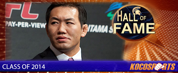 Yushin Okami inducted into the Kocosports Combat Sports Hall of Fame