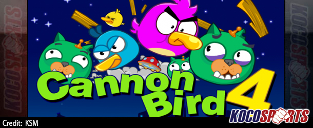 "Max Arcade: Angry Birds – ""Cannon Bird 4"" – (Flash Game)"