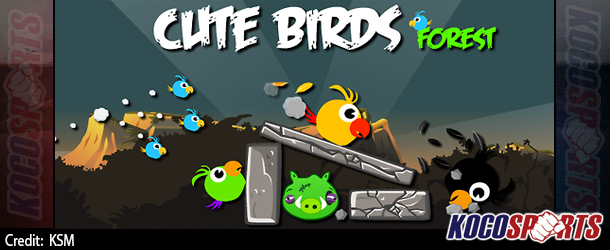 "Max Arcade: Angry Birds – ""Cute Birds Forest"" – (Flash Game)"