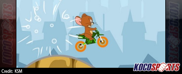 Max Arcade: Tom and Jerry Mini Bike – (Flash Game)