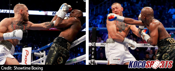 Floyd Mayweather earns hard fought TKO victory over UFC's Conor McGregor in 10th round